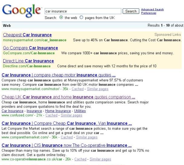 Google-yahoo-sitelinks